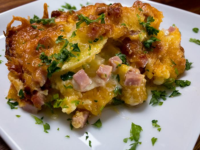 chef shamy garlic butter potato lasagna