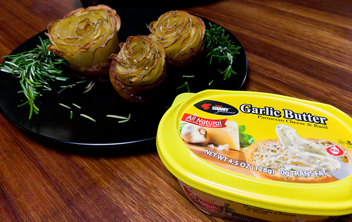 Garlic Butter Potato Roses