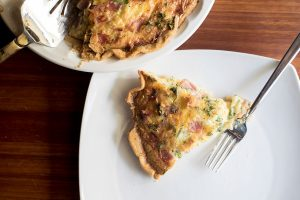 Deep Dish Ham and Cheese Quiche