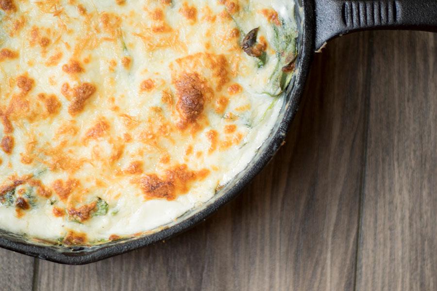 Garlic Herb Spinach Cheese Dip