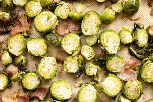Garlic roasted brussel sprouts are sure to be a new favorite side dish.