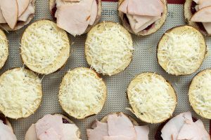 French Onion Asiago Turkey Cranberry Sliders