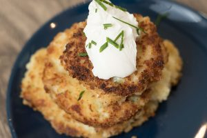 Parmesan Garlic Leftover Potato Pancakes
