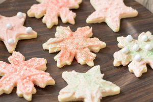 Strawberry Buttercream Frosted Sugar Cookies