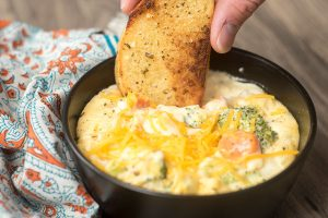 Garlic Broccoli Cheese Soup