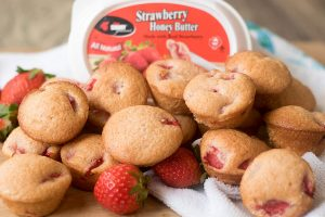 Mini Strawberry Muffins