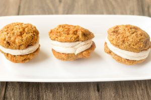 Cinnamon Carrot Cake Sandwich Cookies