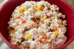 Fun Fall Marshmallow Popcorn