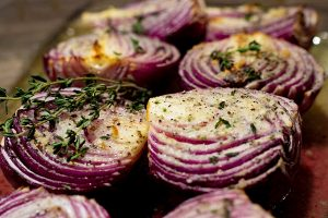 Garlic Roasted Red Onions