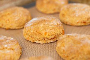 Cinnamon Honey Sweet Potato Biscuits