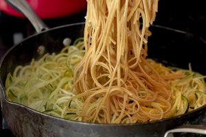 Healthy Zucchini Noodle Pasta