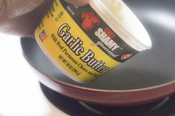 Garlic butter is a great way to add good fats to your keto diet
